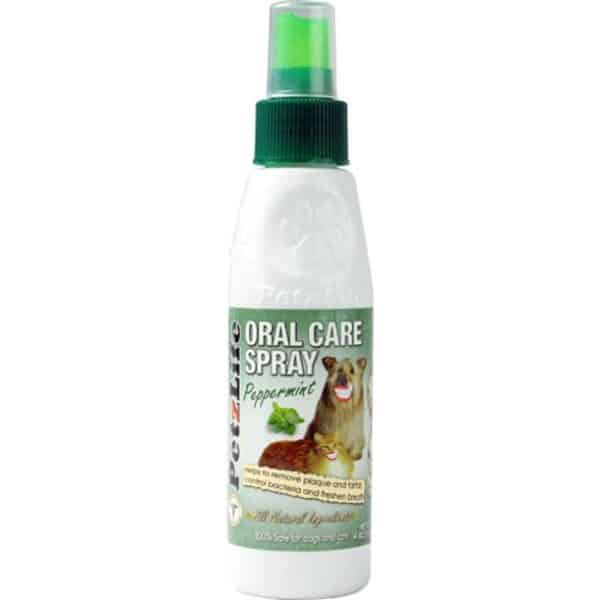 PetzLife Complete Oral Care Peppermint Spray for Dogs and Cats, 4 oz 1