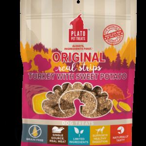Plato Real Strips Turkey With Sweet Potato Meat Bar Dog Treats 3 OZ