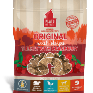Plato Real Strips Turkey With Cranberry Meat Bar Dog Treats 6oz
