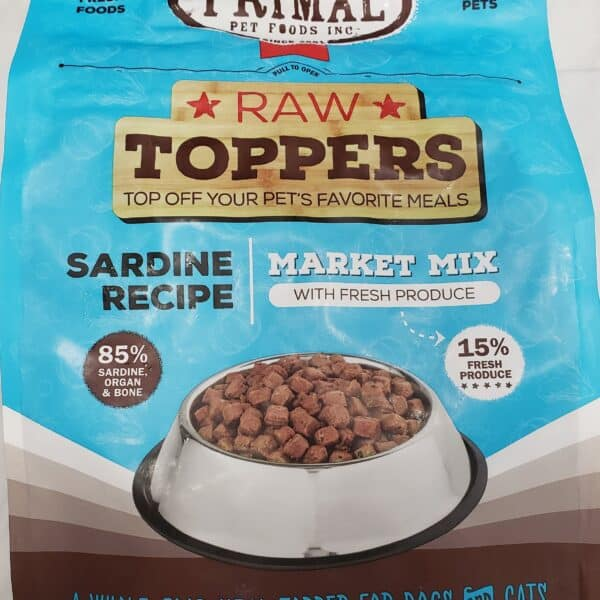 Primal Raw Mix Meal Topper Sardine 5lb