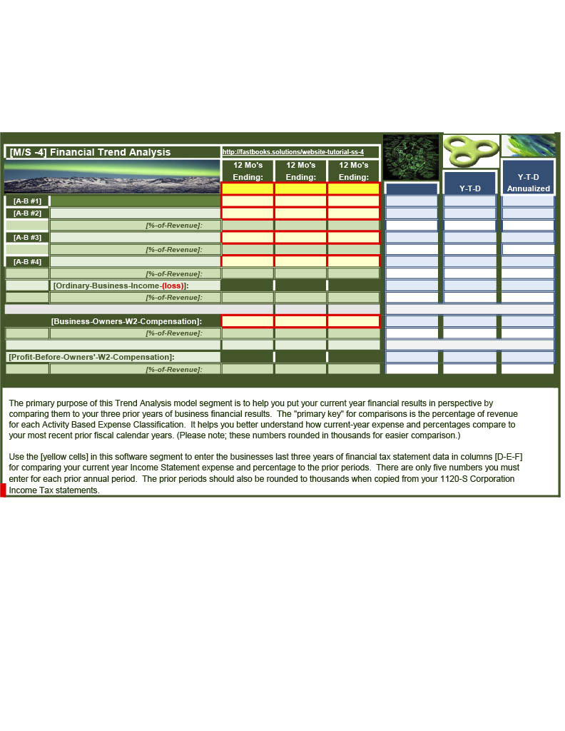 Model Segment 14 of 18 -FastBooks Solutions Microsoft Excel Service Business Accounting Model