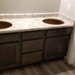 White Lamiate Bathroom Countertop