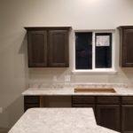 White Laminate Countertop Sink & Island