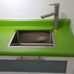 Lime Laminate Countertop Sink