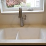 White Solid Surface Sink