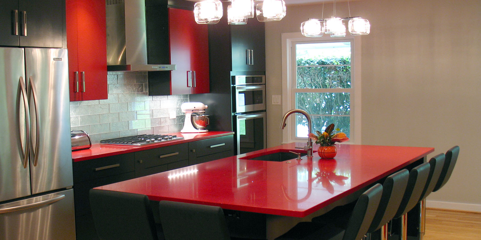 Red Intermezzo Kitchen Countertop