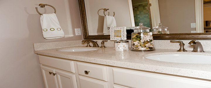 White Bathroom Countertop