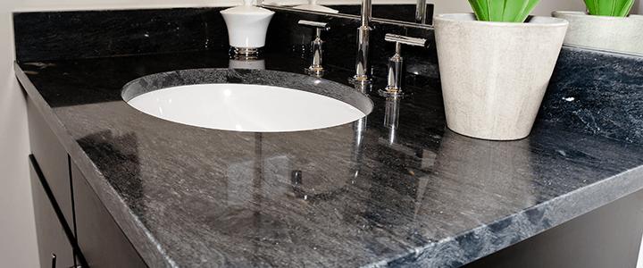 Black Stone  Sink Countertop