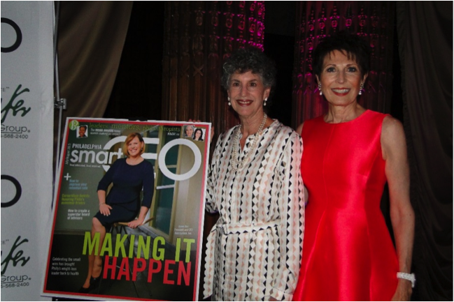 Linda McAleer with fellow Brava Award Winner, Dianne Semingson