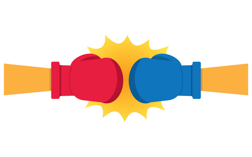 community college - boxing gloves