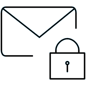 Drawing of Letter with Lock