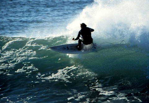 Kevin Naughton surfing J-Bay