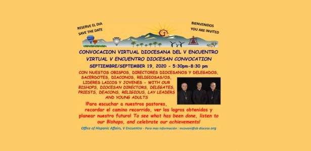 V Encuentro Diocesan Virtual Convocation