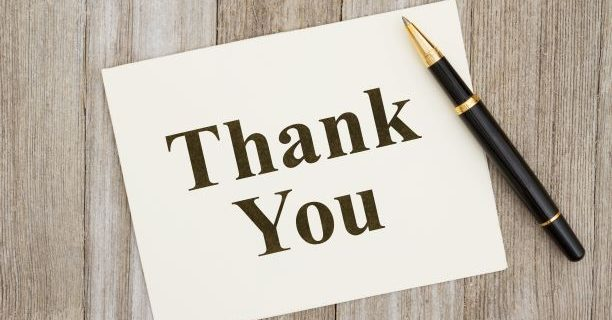 A Thank You Note – CVRM