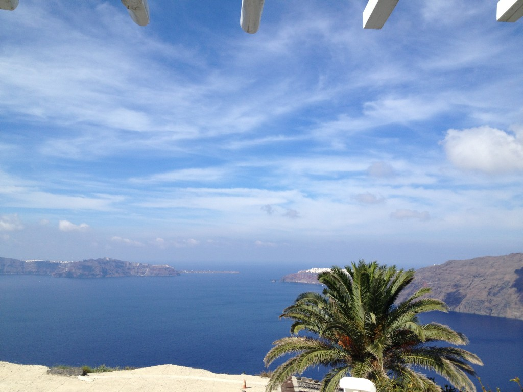The view from my room at Rocabella Resort in Santorini