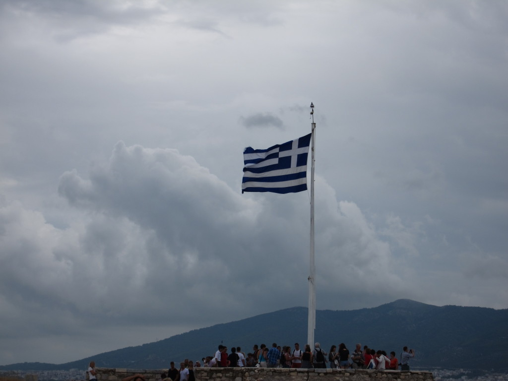 The Greek flag flies with great pride and an incredible story of rebellion