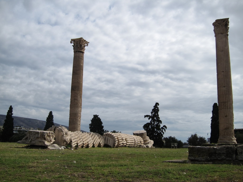 "Part of the Temple of Zeus. In this case, ""if it's broke, maybe we don't have to fix it""!"
