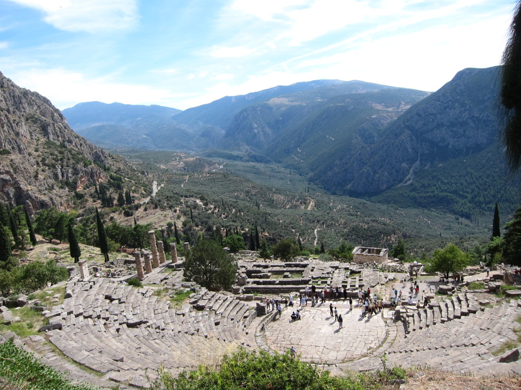 What a view for the 5000 audience members at Delphi!