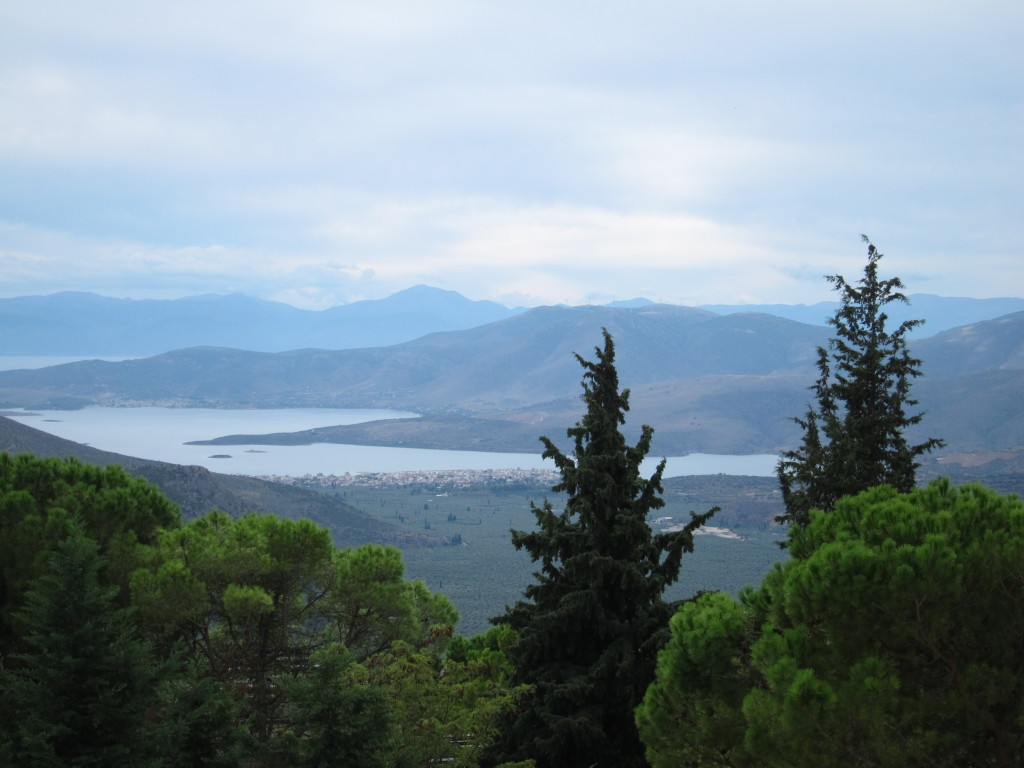The Sea of Corinth from outside of Delphi