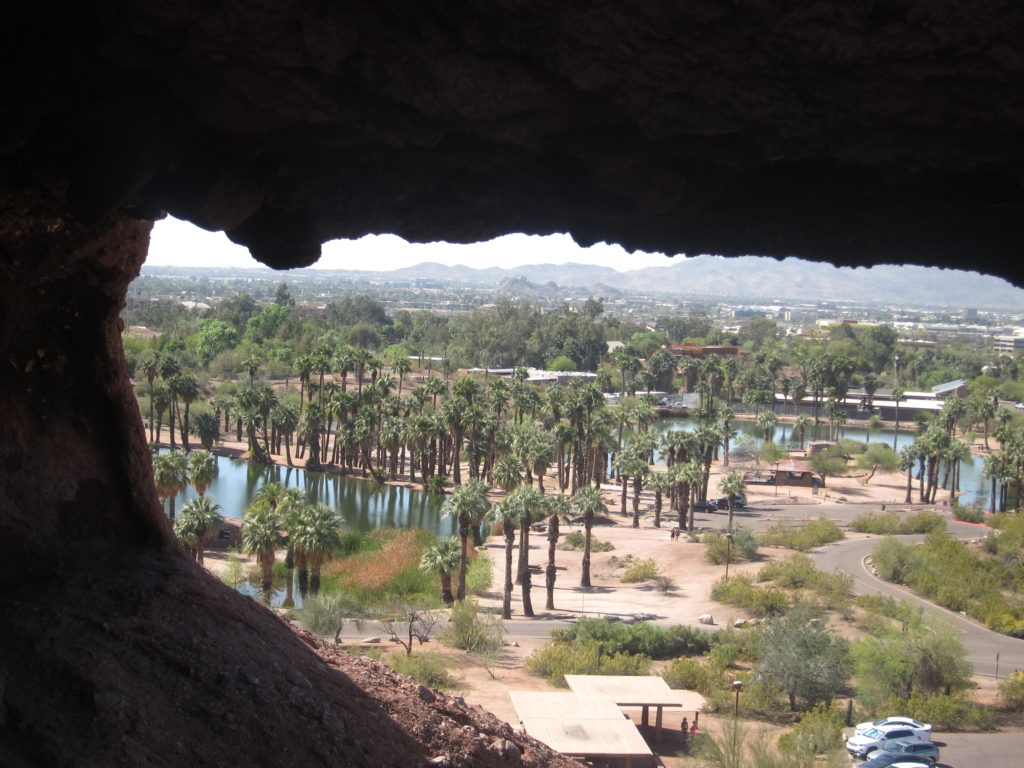 """View from """"hole in the rock"""" in Papago Park"""