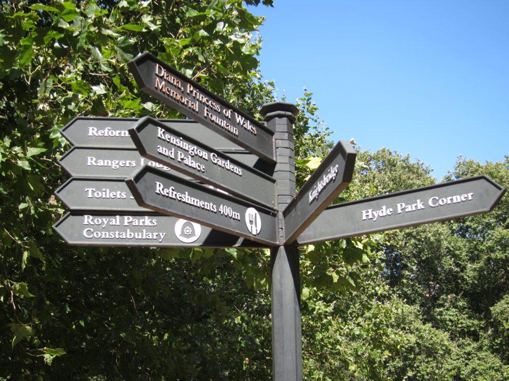Deciding to find the Princess Di memorial