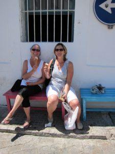 Eating gelato & chillin' in Tarifa