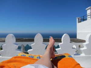 Resting feet in Morocco