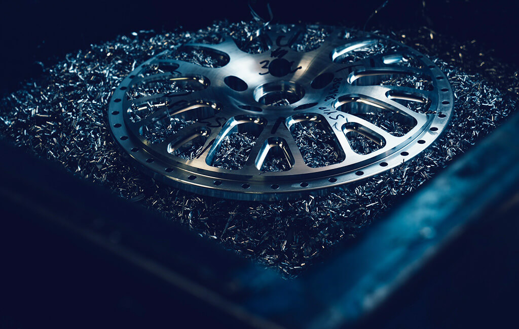 machining wheel face