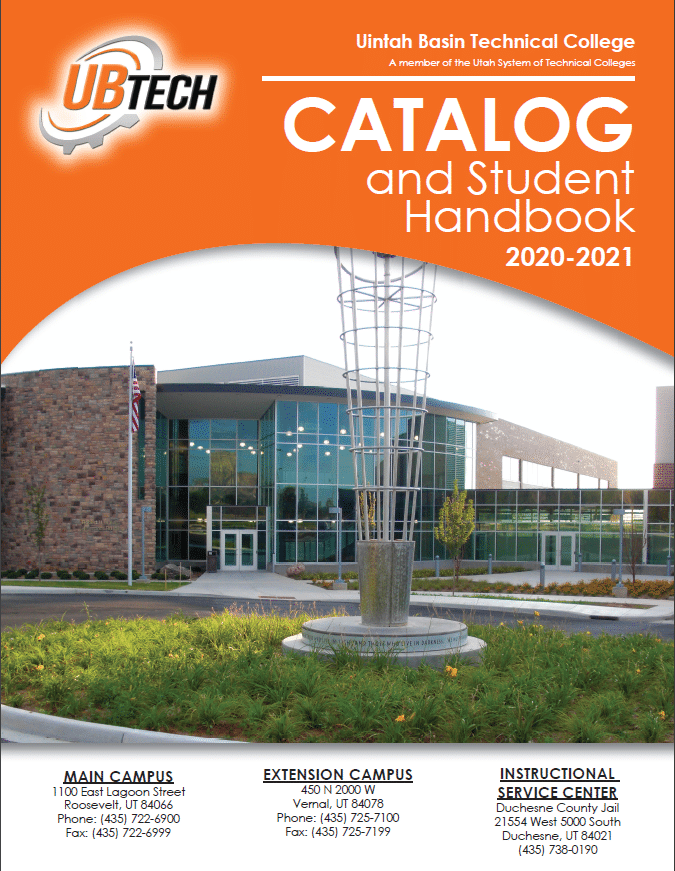 UBTech Student Handbook and Catalog