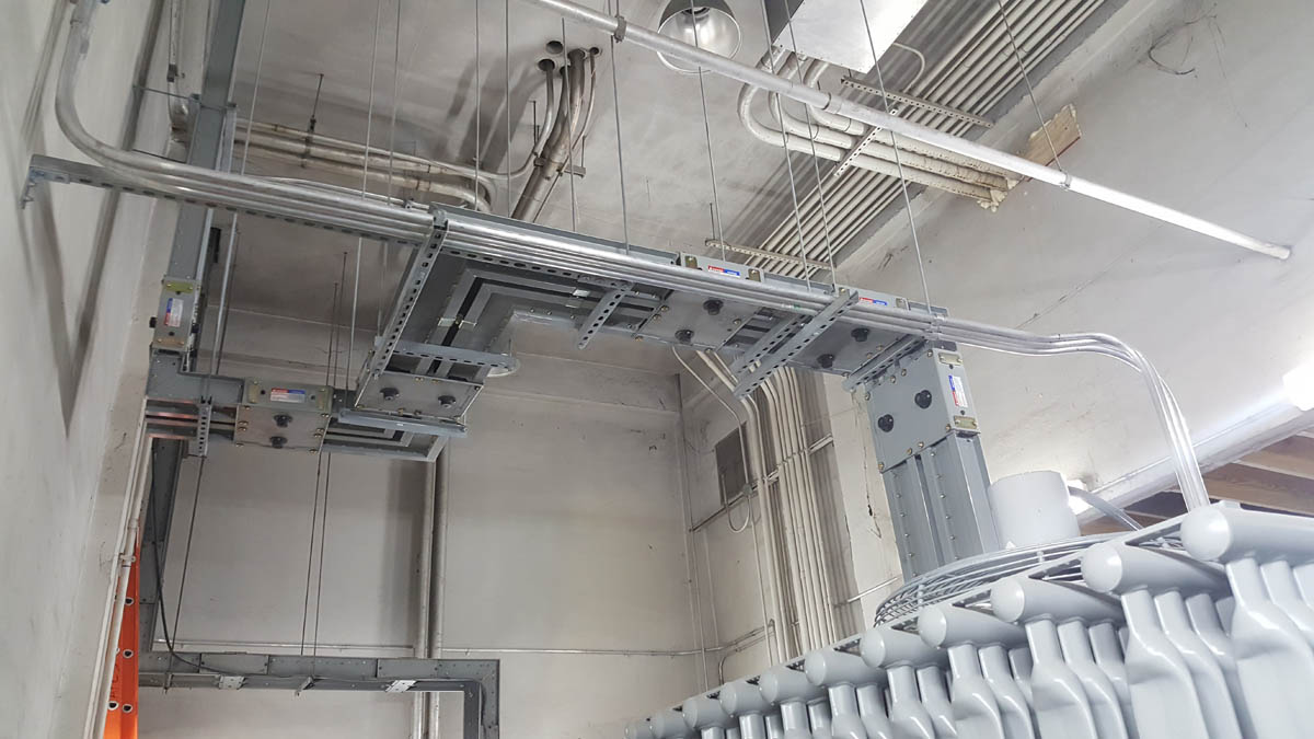 Duct work and conduits for new transformer