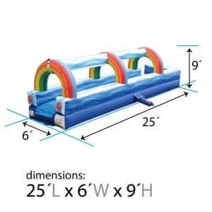 inflatable slip and slide rental