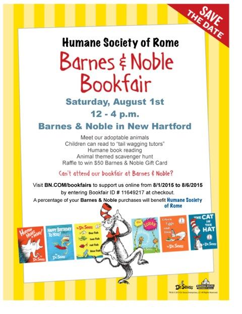 2015 Dr. Seuss Bookfair flyer