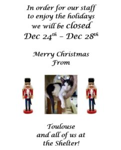Closed for Christmas @ Humane Society of Rome
