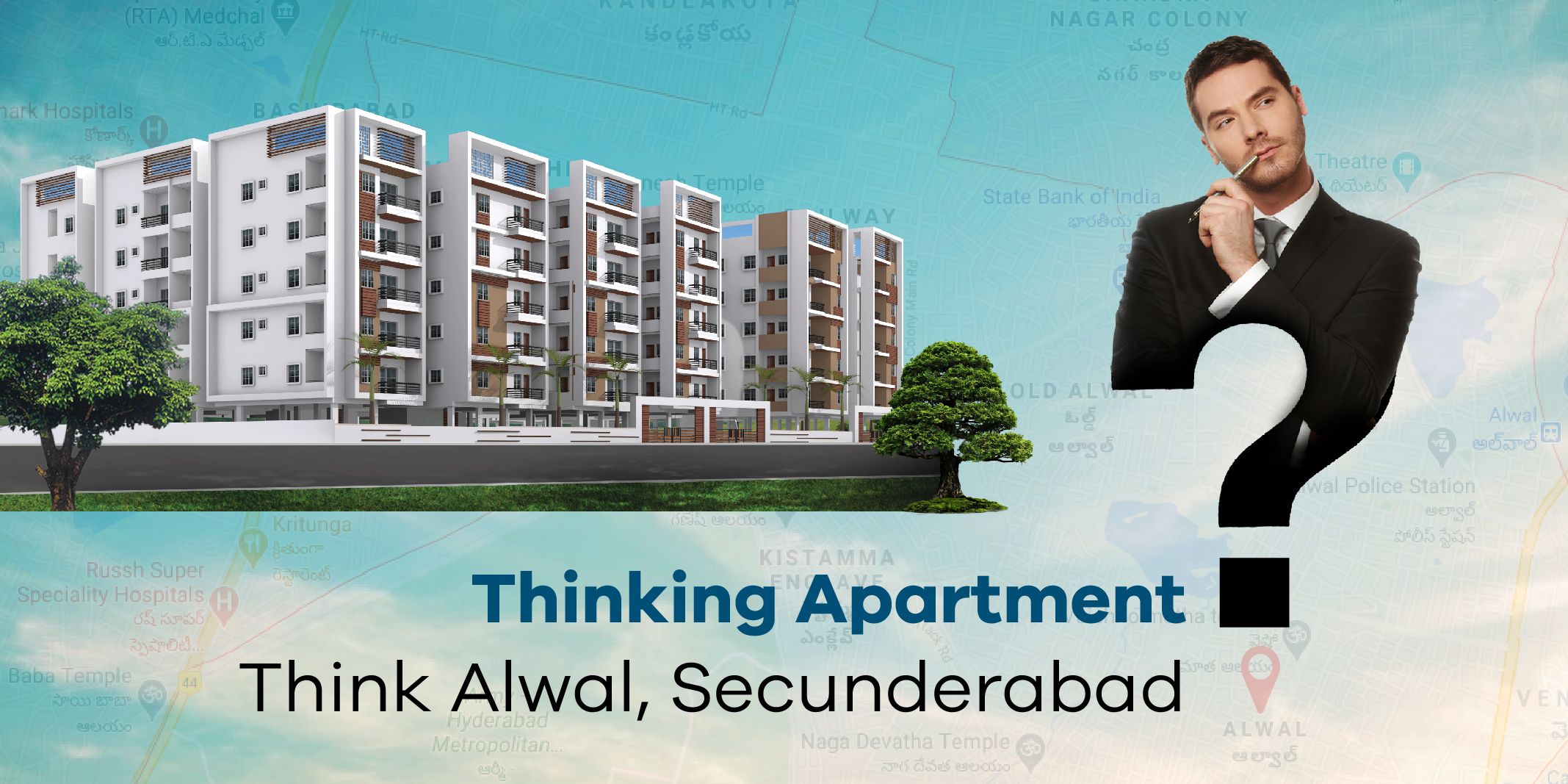 Luxury 2/3 bhk flats for sale in Alwal, Secunderabad
