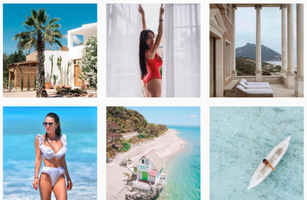 Instagram Aspirational Content Marketing Afina London