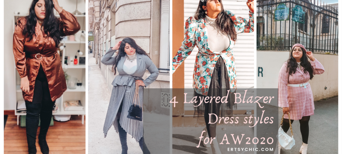 4 Layered Blazer Dress styles for AW 2020