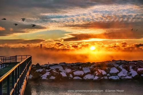 Magical morning in the Port Washington Marina