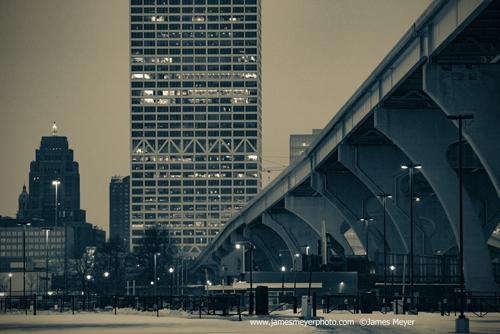 Hoan Bridge and US Bank Building