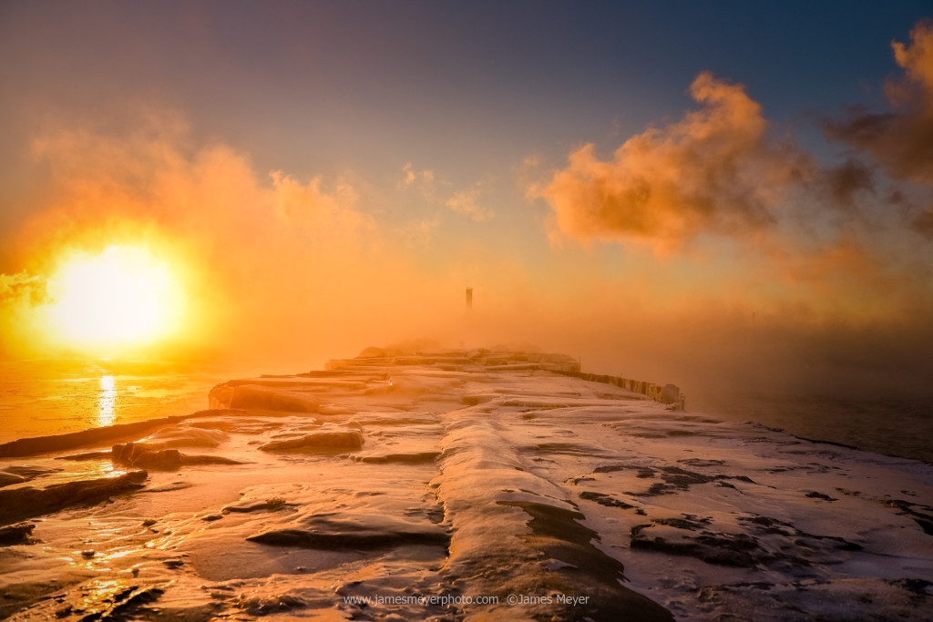 Icy sunrise in Port Washington by James Meyer Photography
