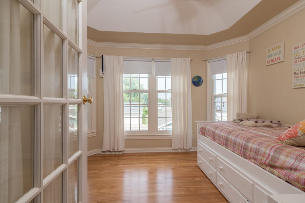 Port Washington WI victorian bedroom room by James Meyer Photography