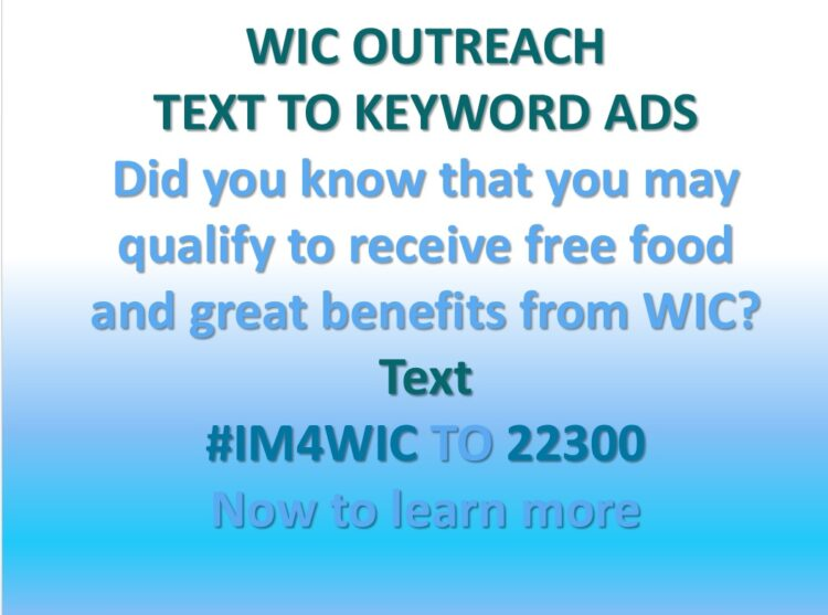 Text to Keyword for WIC