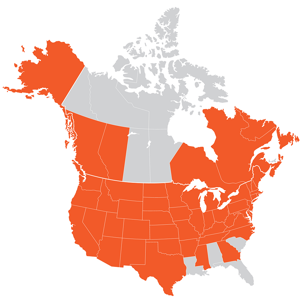 KUEPER: proudly serving 45 States, 8 Canadian Provinces, and 75 airports across North America