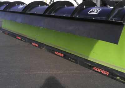 Blades to protect the roadway and runway