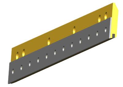 Armored Style Single Carbide Blade