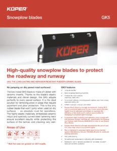 Kueper GK5 Airport Snowplow Blades