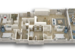 3D Floor plan - 3 Bedroom Typical Residence