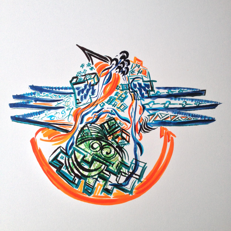 Brigit Elisabeth Eichenberger Doodle Art