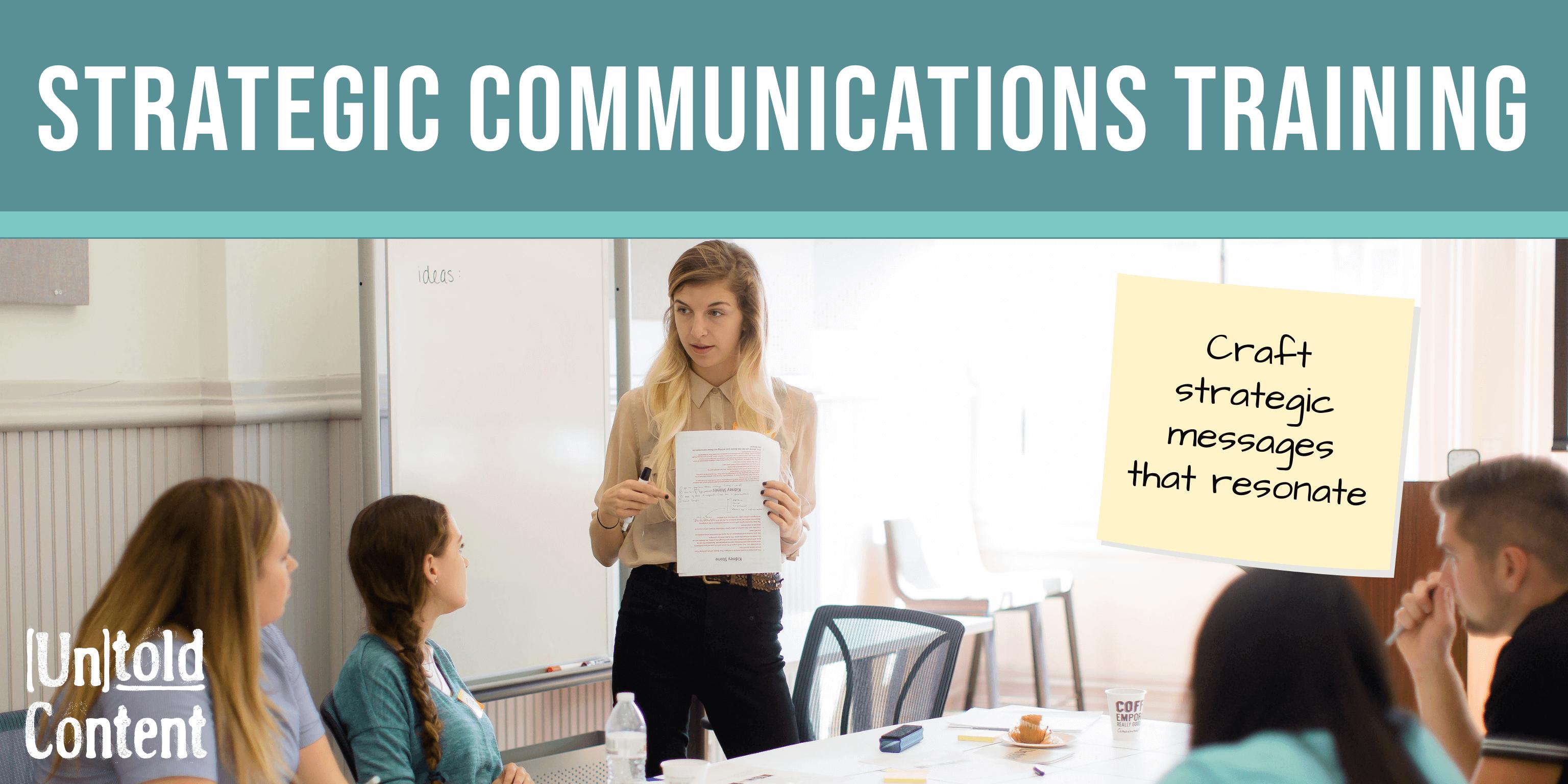 Strategic Communications Training