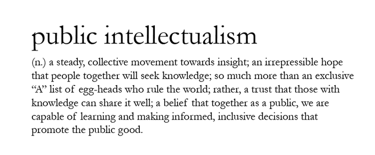 Public Intellectualism Definition
