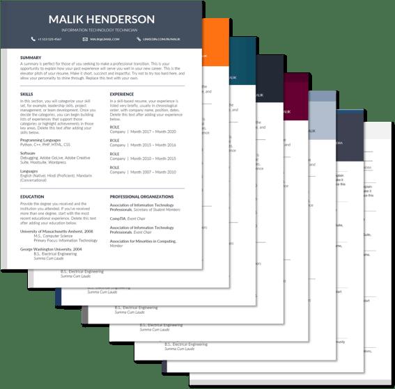 Resume Templates - Skills-Based